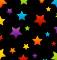 Colorful star background vector image vector image