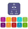 company structure icons set vector image vector image