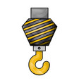 crane hook flat icon in colored crayon silhouette vector image vector image