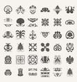 decorative elements elements set vector image vector image