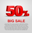 Design a poster for sale vector image