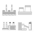 design of manufacturing and company icon vector image