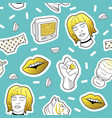 fashionable seamless pattern in pop art style vector image
