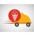 fast delivery food ice cream icon vector image vector image