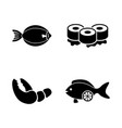 fish restaurant seafood simple related vector image vector image