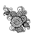 Floral pattern element indian ornament vector image