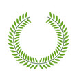 green laurel wreaths round for emblem vector image vector image
