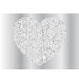 Grey silver sparkling polygonal heart design vector image vector image