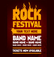 grunge rock festival poster design template vector image vector image