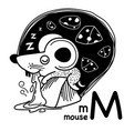hand drawnalphabet letter m-mouse