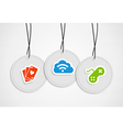 Hanging Gaming badges set vector image