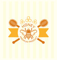 honey and bee isolated colored emblem vector image vector image