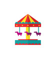 horse carousel amusement park objects vector image