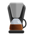 household coffee maker icon cartoon style vector image