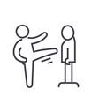 Karate martial arts kung fu tae kwon do flat vector image