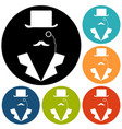 man in suit secret service agent icon vector image vector image