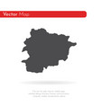 map andorra isolated black vector image vector image