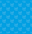 mortar with pestle pattern seamless blue vector image