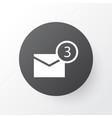 notification icon symbol premium quality isolated vector image