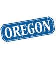 oregon blue square grunge retro style sign vector image vector image