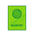 passport sign lemon scribble vector image