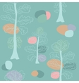 Pastel trees seamless pattern vector image vector image