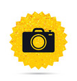 photo camera sign icon photo symbol vector image vector image