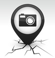 Photo icon in crack vector image vector image
