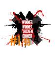 pubg concept squad militarys vector image vector image
