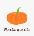 pumpkin spice latte hand drawn logo vector image