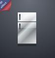 Refrigerator icon symbol 3D style Trendy modern vector image vector image