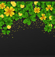 saint patrick day border with golden shimmergreen vector image