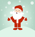 Santa on winter snow vector image vector image