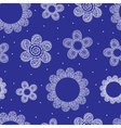 Seamless pattern with white decorative flowers
