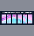 set colorful gradient wallpapers backgrounds vector image vector image