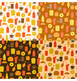 set of seamless pattern of fast food icons vector image vector image