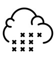 sleet cloud icon outline style vector image vector image