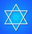 Star of David with Decorative Pattern vector image vector image