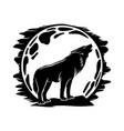 wolf howling at moon vector image