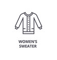 women sweater line icon outline sign linear vector image vector image