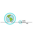 world ozone day background simple one line vector image vector image