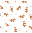 yoga dogs poses and exercises welsh corgi vector image vector image