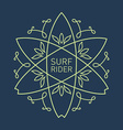 Surfing vintage label for surf board or tee vector image