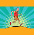 the old man runner healthy lifestyle vector image