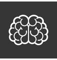 Brain Logo Icon on Black Background vector image