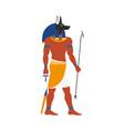 flat anubis egypt god icon vector image