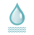 a drop of pure water vector image vector image