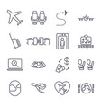 airport icon set airport management icons aerial vector image vector image