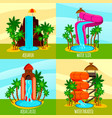 aqua park flat design concept vector image vector image