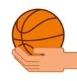 balloon basketball isolated icon vector image vector image